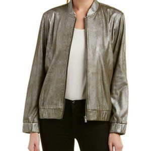 Two by Vince Camuto Foiled Ponte Bomber Jacket XS